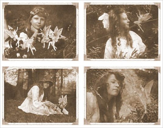 "Photos of the ""Cottingley Faeries"""