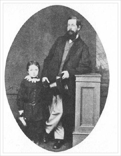 Arthur and his father Charles Altamont Doyle