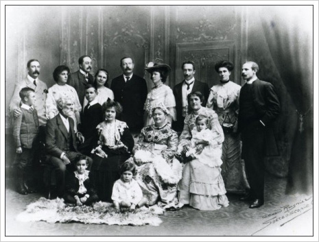 Arthur and Louisa Conan Doyle in a family portrait c. 1884