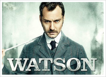 Jude Law as Dr. Watson in Sherlock Holmes II: A Game of Shadows