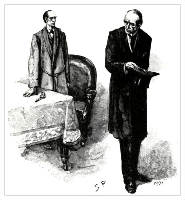 Sherlock Holmes and Professor Moriarty by Sydney Paget